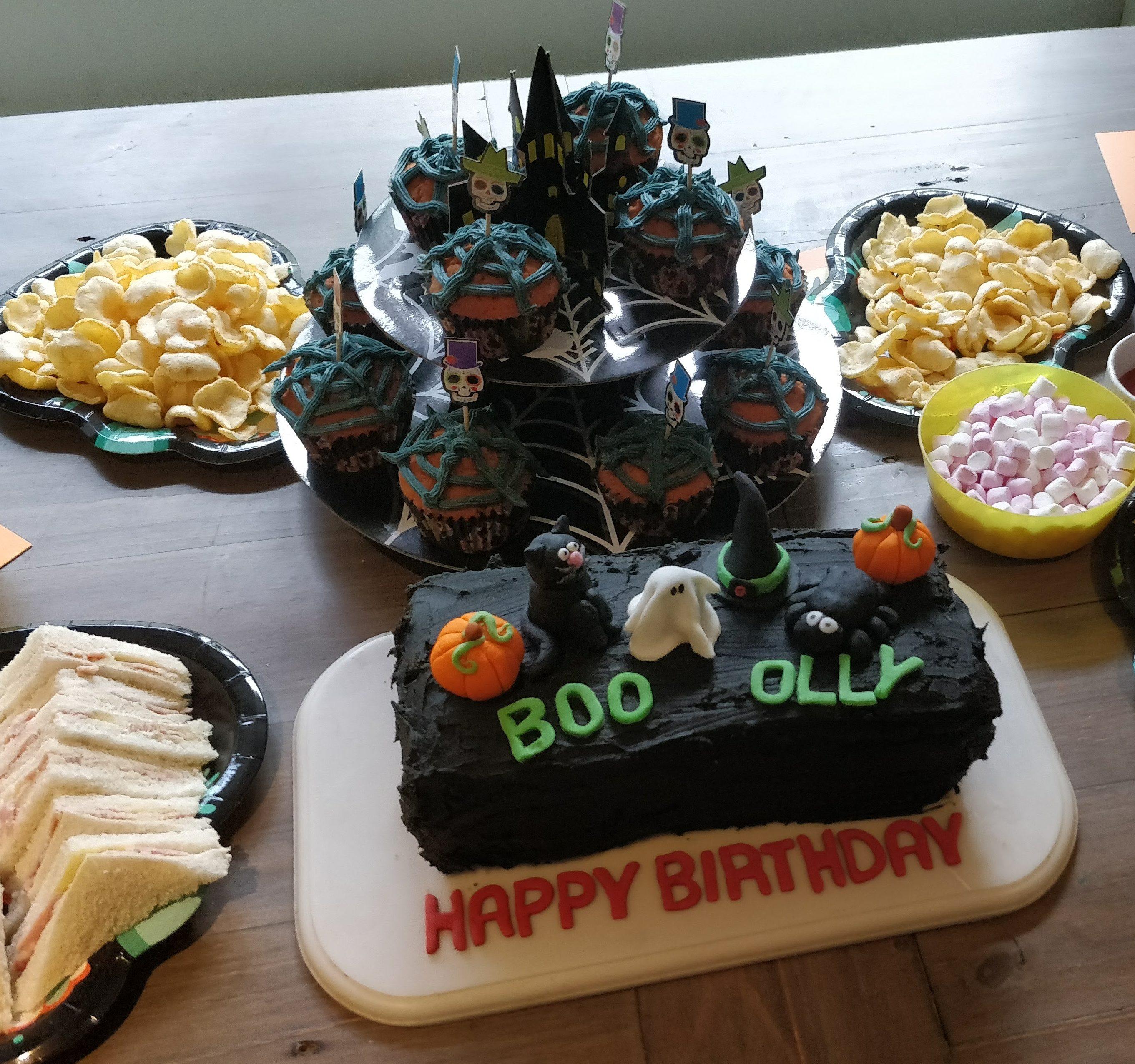 Swell Ollys Halloween Themed Birthday A Spooktacular Celebration Funny Birthday Cards Online Fluifree Goldxyz