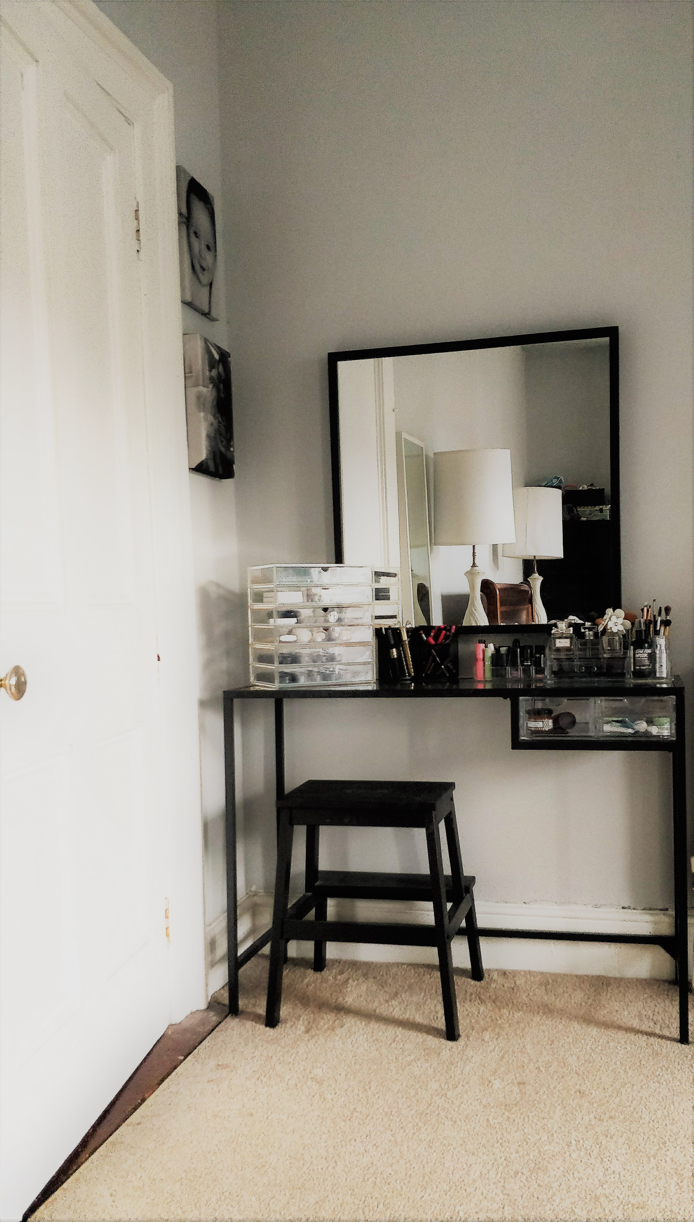Vanity Table Ikea Hack Perfect For Small Living Spaces